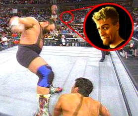 Sean watches the magic of Rick Steiner..