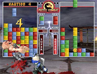 See, if you drop the green block into that little hole, your midget fighter will throw an uppercut.